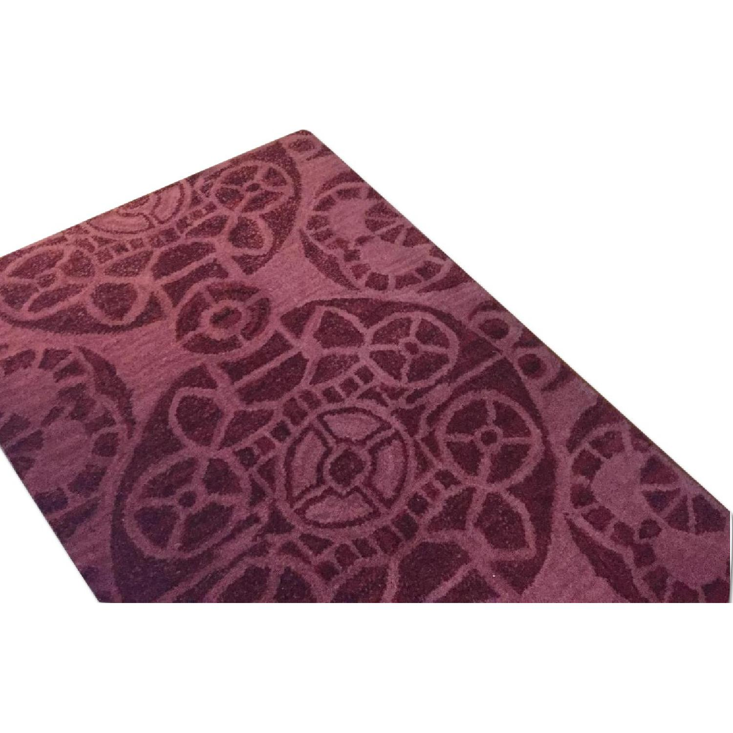 One Kings Lane Red Wool Rug - image-0