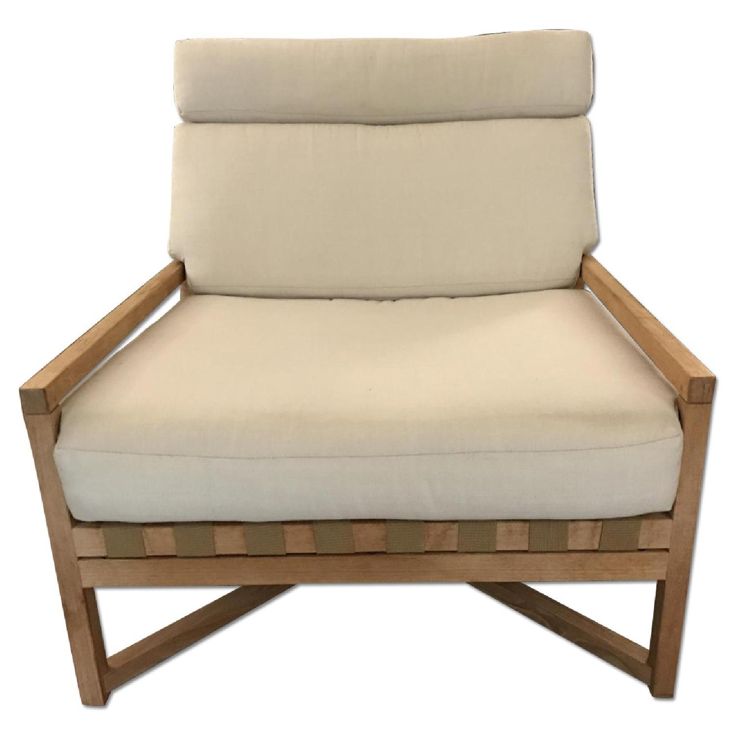 Design Within Reach Outdoor/Indoor Rusa Teak Club Chair - image-0