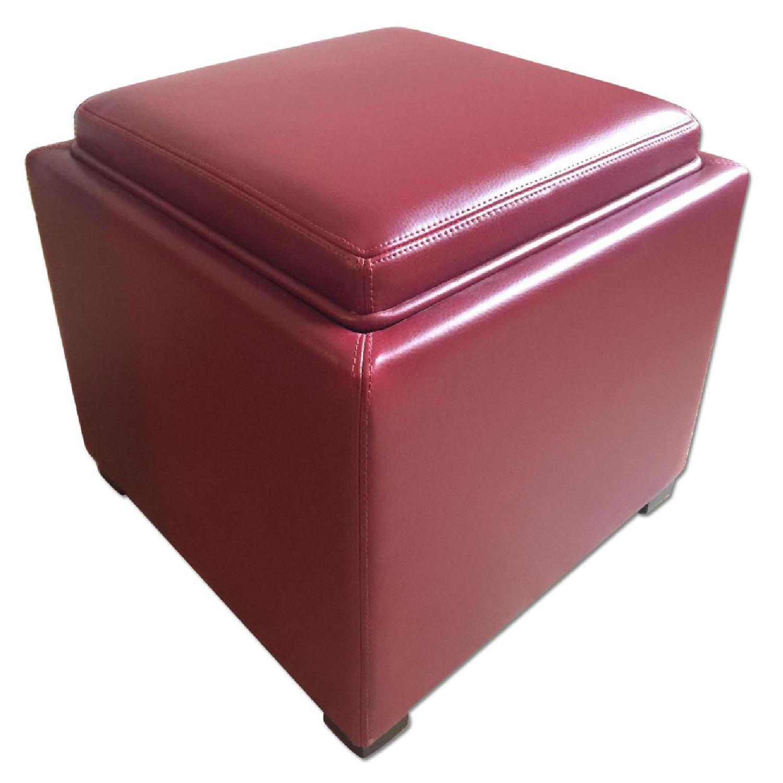 Storage Ottoman w/ Tray - image-0