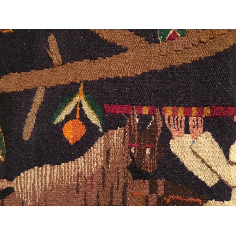 Vintage Small Hand Woven Rug Kilim - image-3