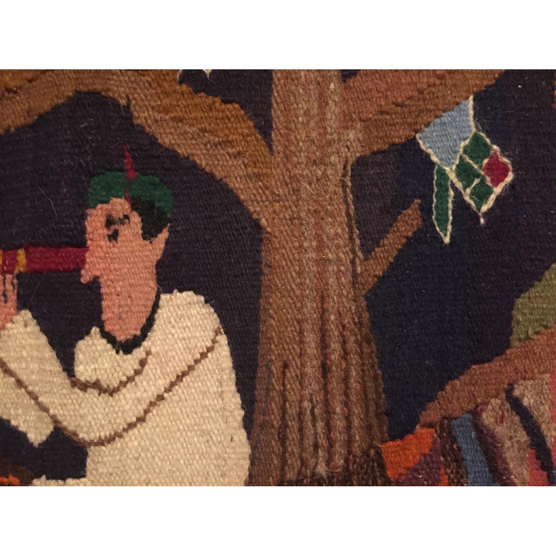 Vintage Small Hand Woven Rug Kilim - image-4