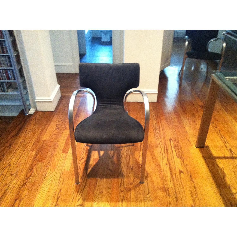 Suede & Aluminum Chair - image-1