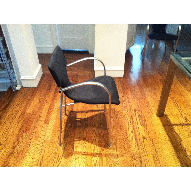 Suede & Aluminum Chair - image-2