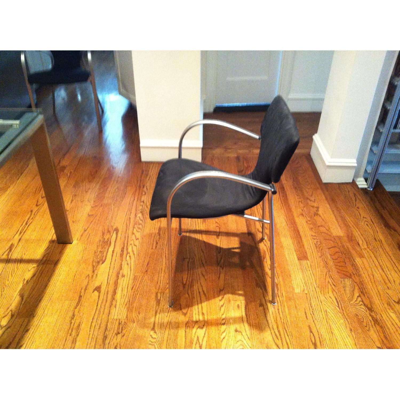 Suede & Aluminum Chair - image-3