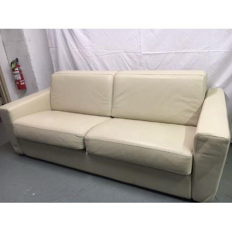 Capri Italian Leather Sleeper Sofa - image-1