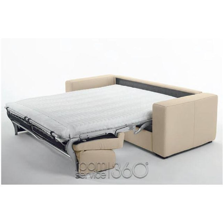 Capri Italian Leather Sleeper Sofa - image-2