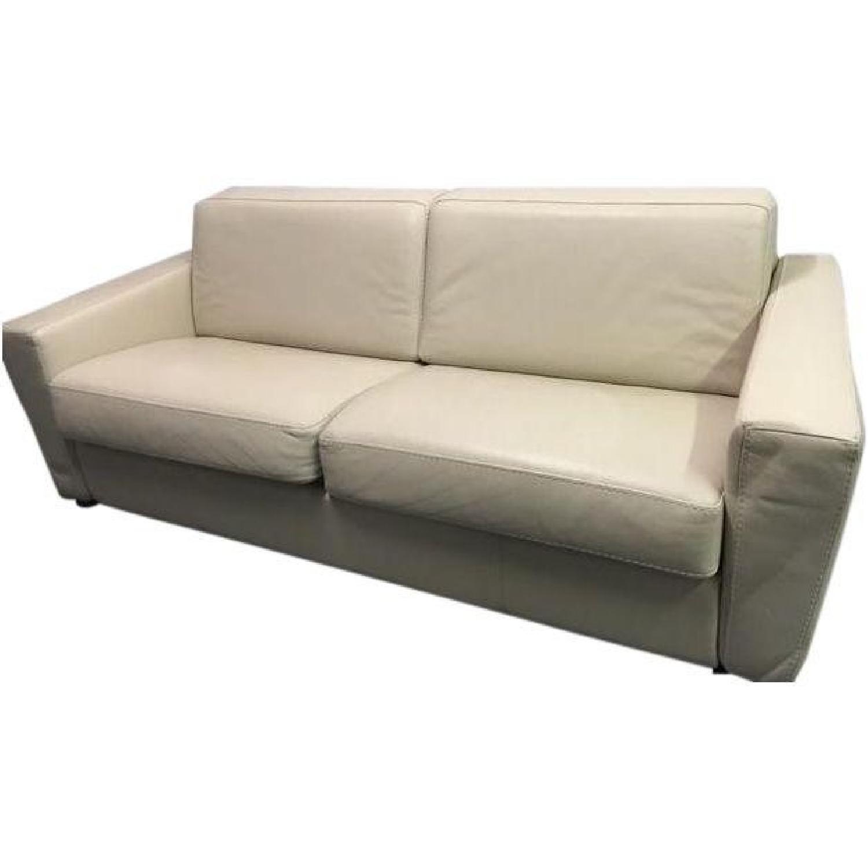 Capri Italian Leather Sleeper Sofa - image-0