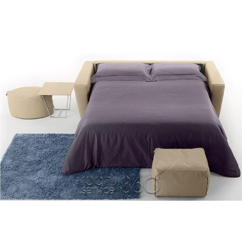 Capri Italian Leather Sleeper Sofa - image-3