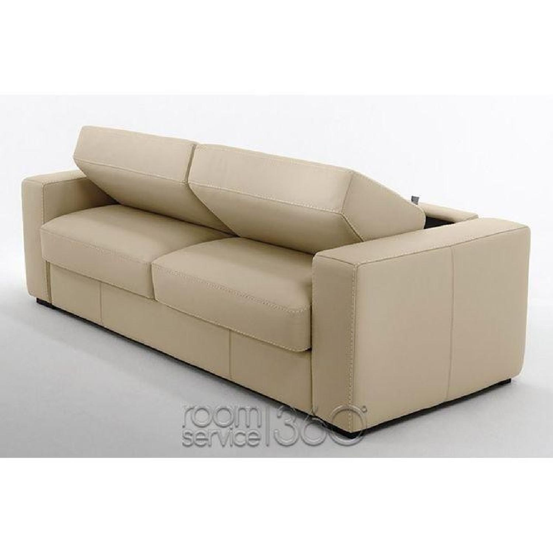 Capri Italian Leather Sleeper Sofa - image-4