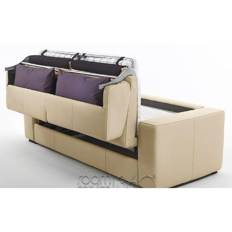Capri Italian Leather Sleeper Sofa - image-6