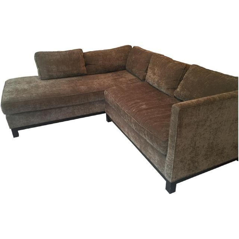Mitchell Gold + Bob Williams Sectional Sofa & Cushion - image-0