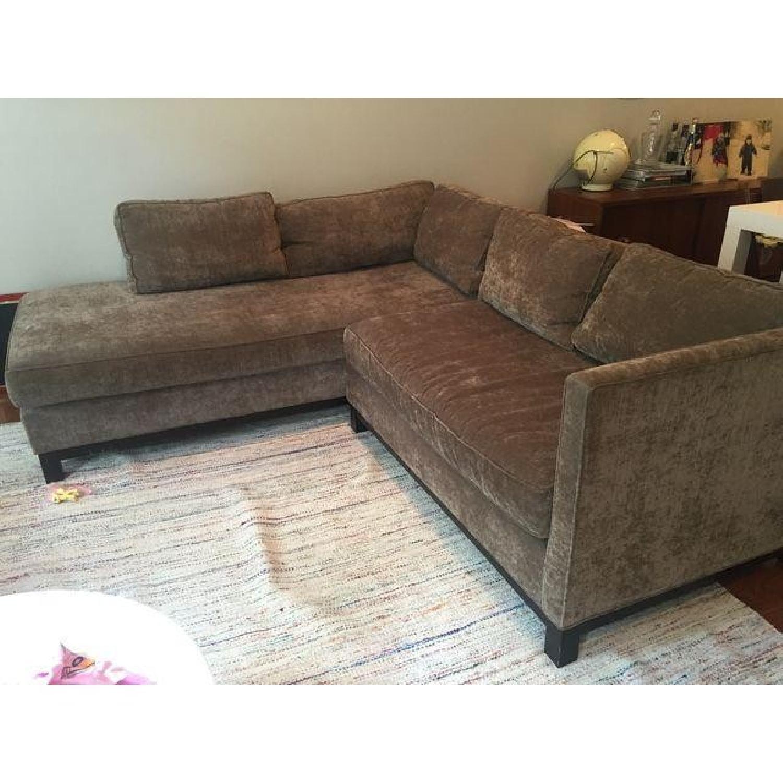 Mitchell Gold + Bob Williams Sectional Sofa & Cushion - image-2