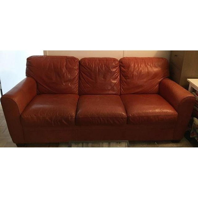 Natuzzi Leather Sofa - image-3