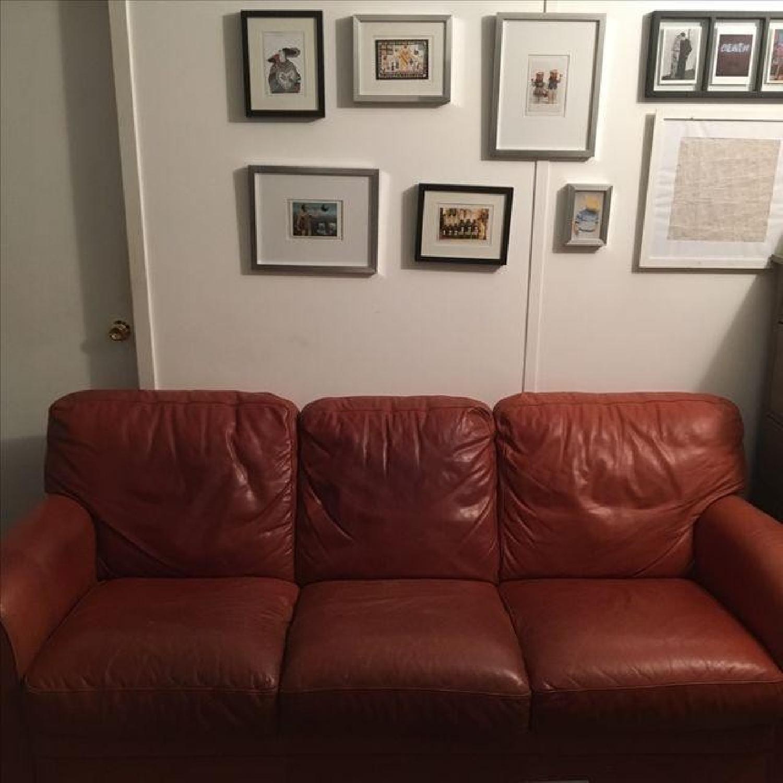 Natuzzi Leather Sofa - image-5