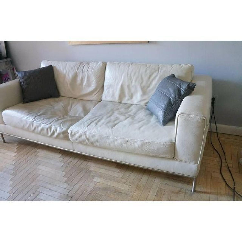 Natuzzi Leather Sofa - image-4