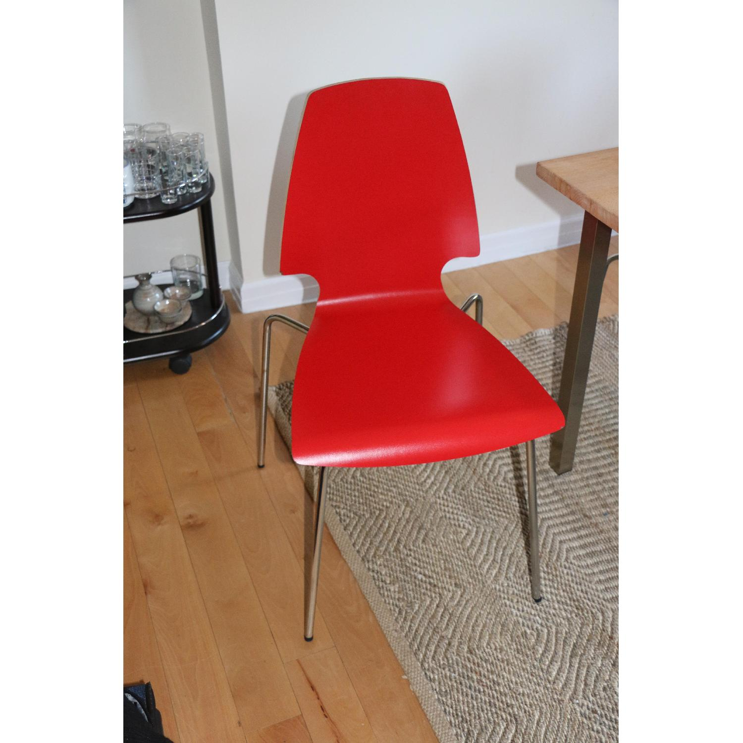 Ikea Vilmar Red Dining Chairs - image-1