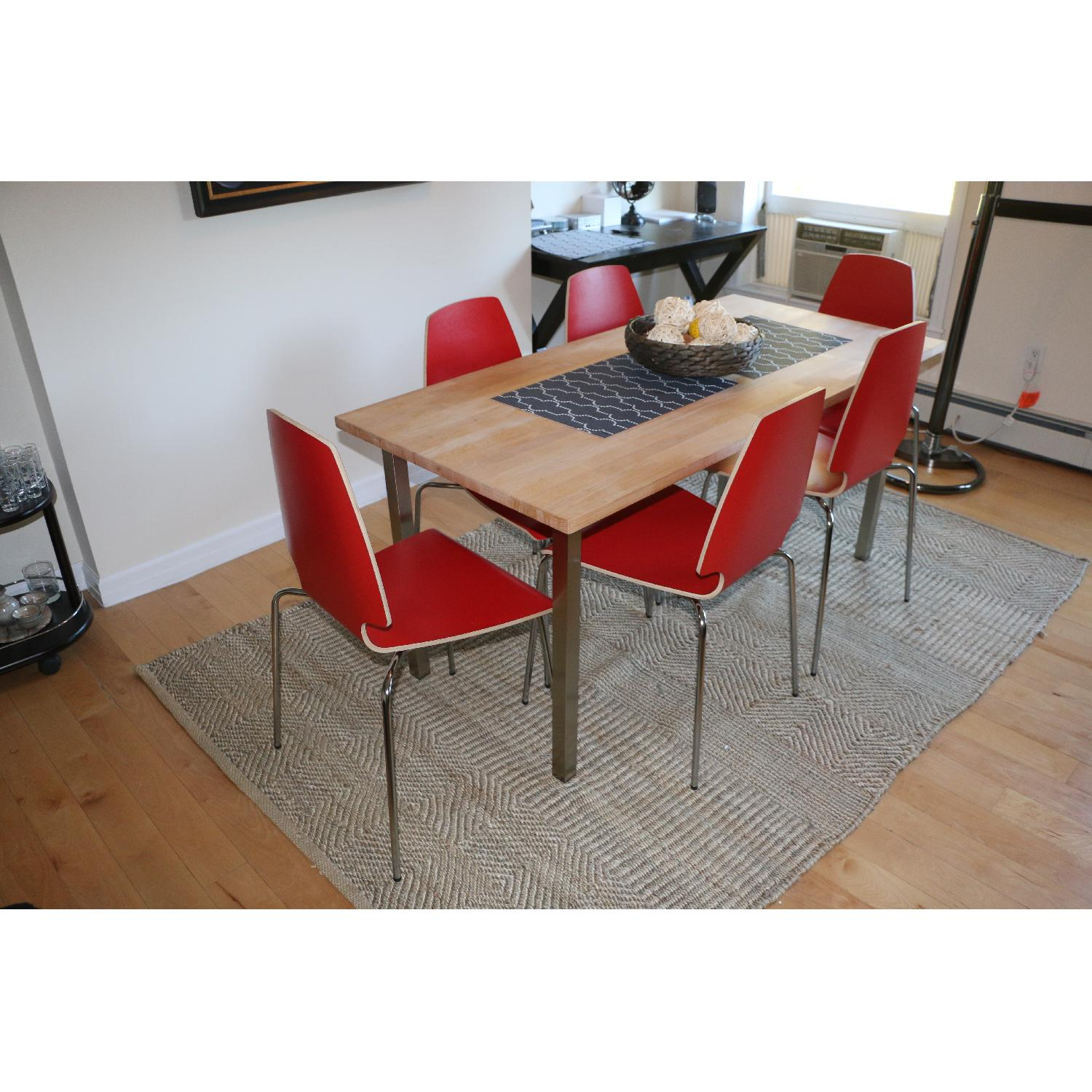 Ikea Vilmar Red Dining Chairs - image-2