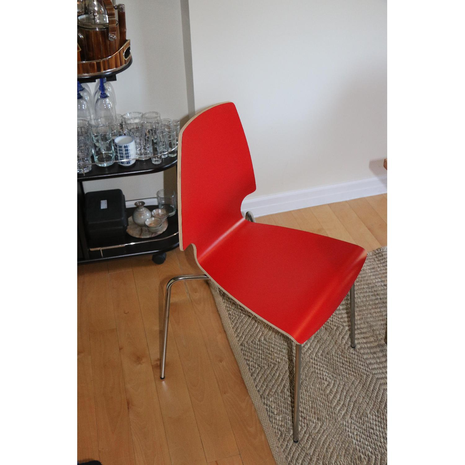 Ikea Vilmar Red Dining Chairs - image-3