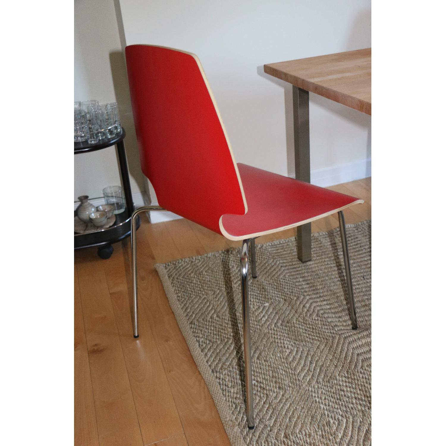 Ikea Vilmar Red Dining Chairs - image-4