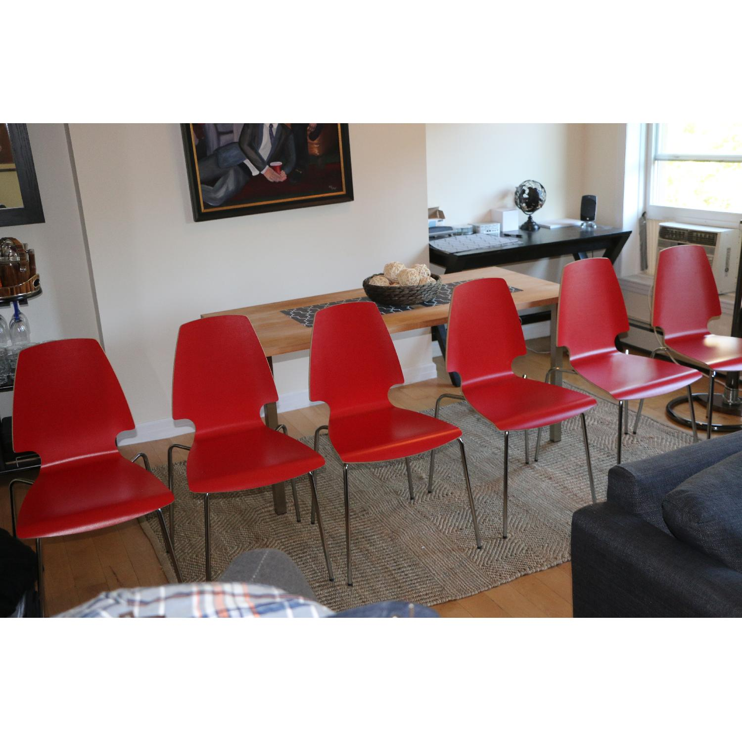 Ikea Vilmar Red Dining Chairs - image-5