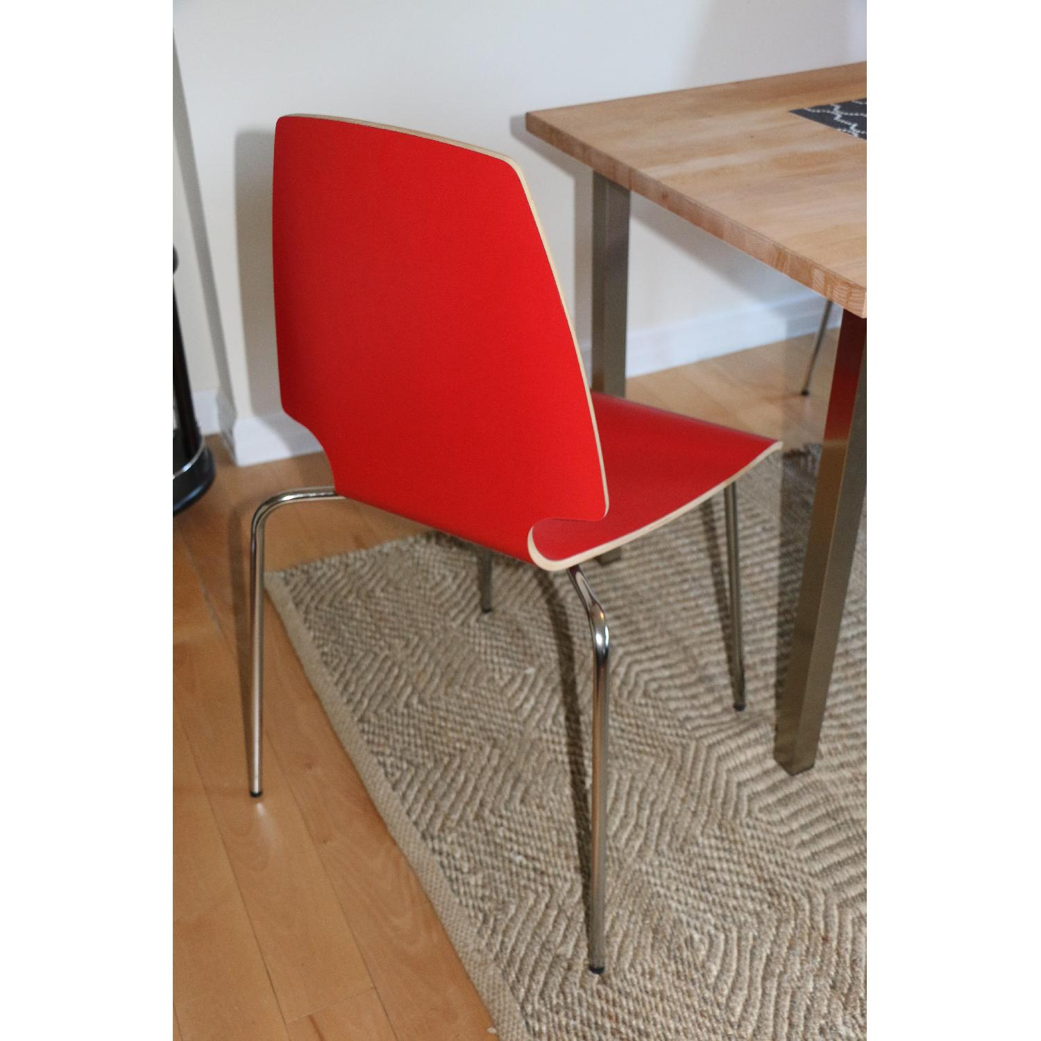 Ikea Vilmar Red Dining Chairs - image-6