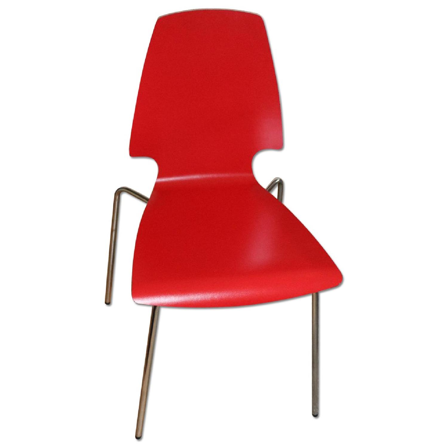 Ikea Vilmar Red Dining Chairs - image-0