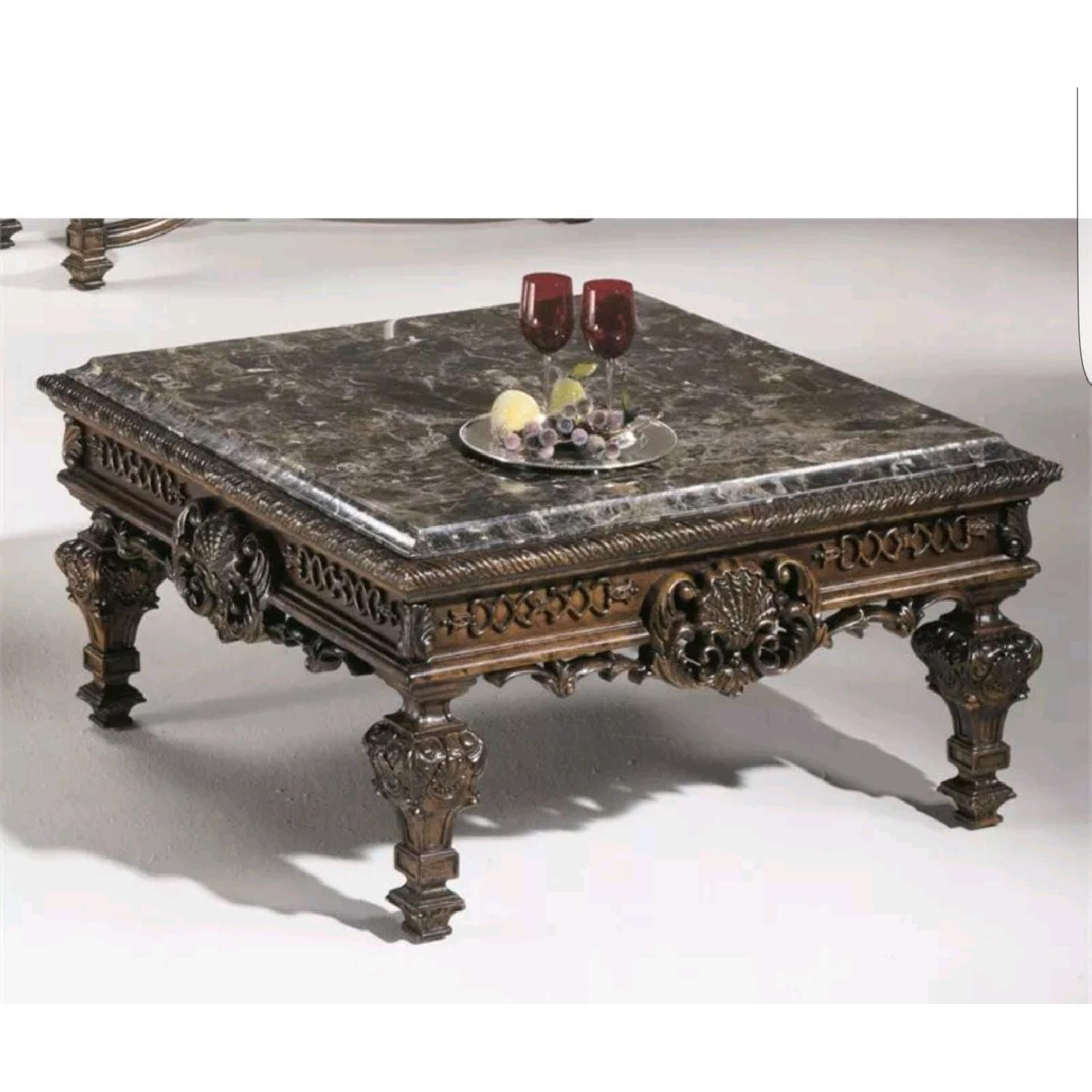 Brookhouse Furniture Marble Coffee Table + Side Table - image-1