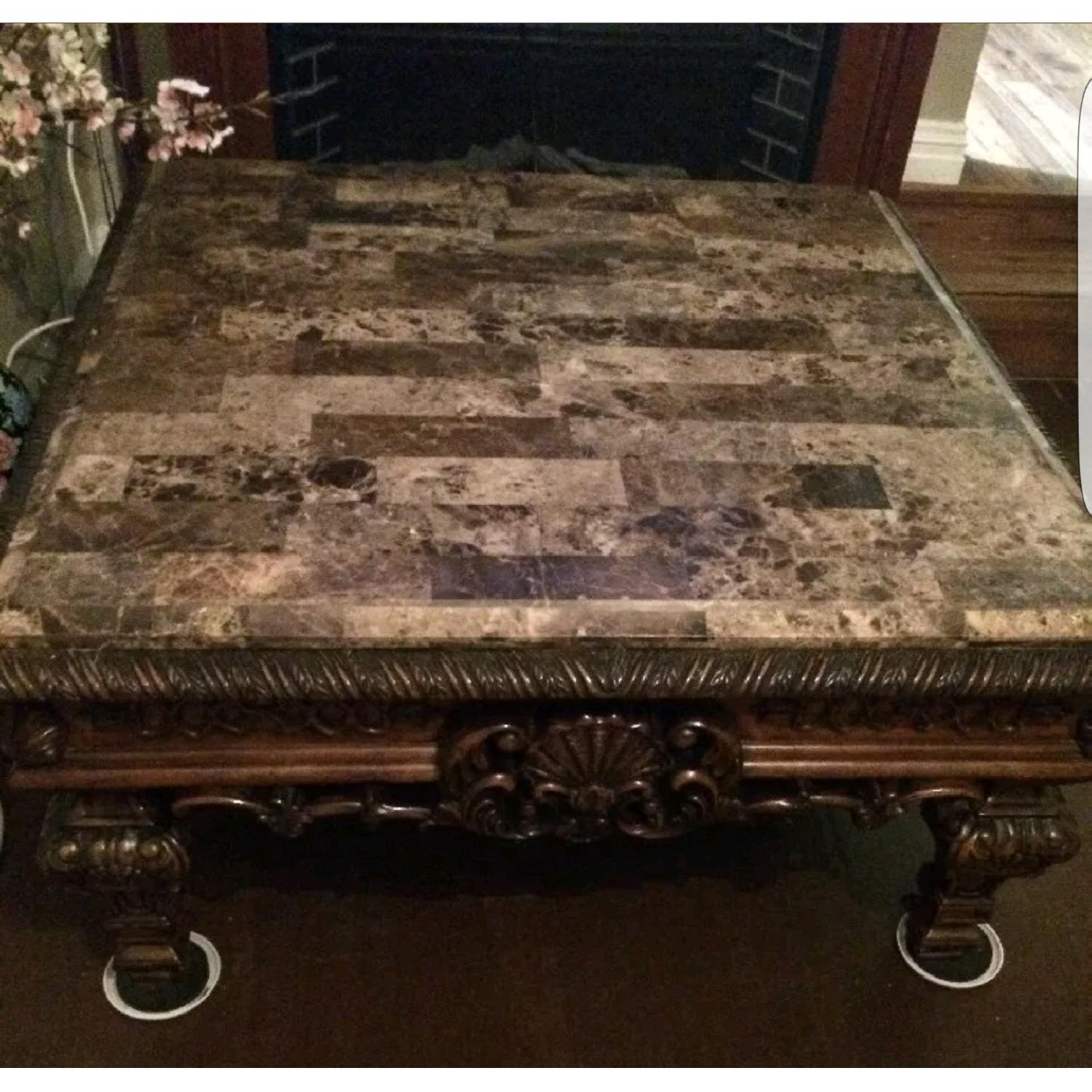 Brookhouse Furniture Marble Coffee Table + Side Table - image-2