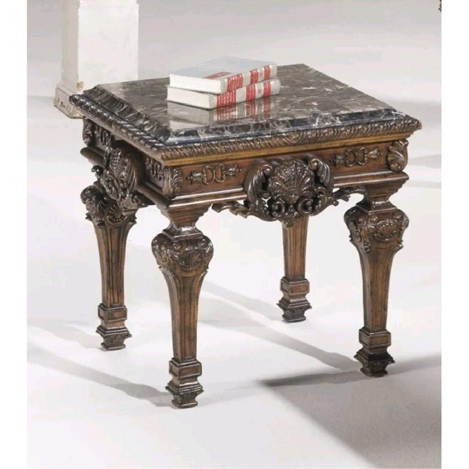 Brookhouse Furniture Marble Coffee Table + Side Table - image-4