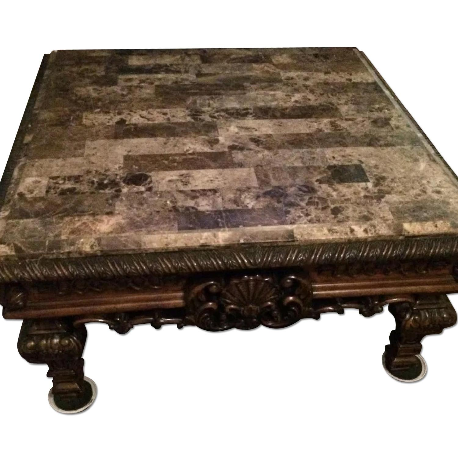 Brookhouse Furniture Marble Coffee Table + Side Table - image-0