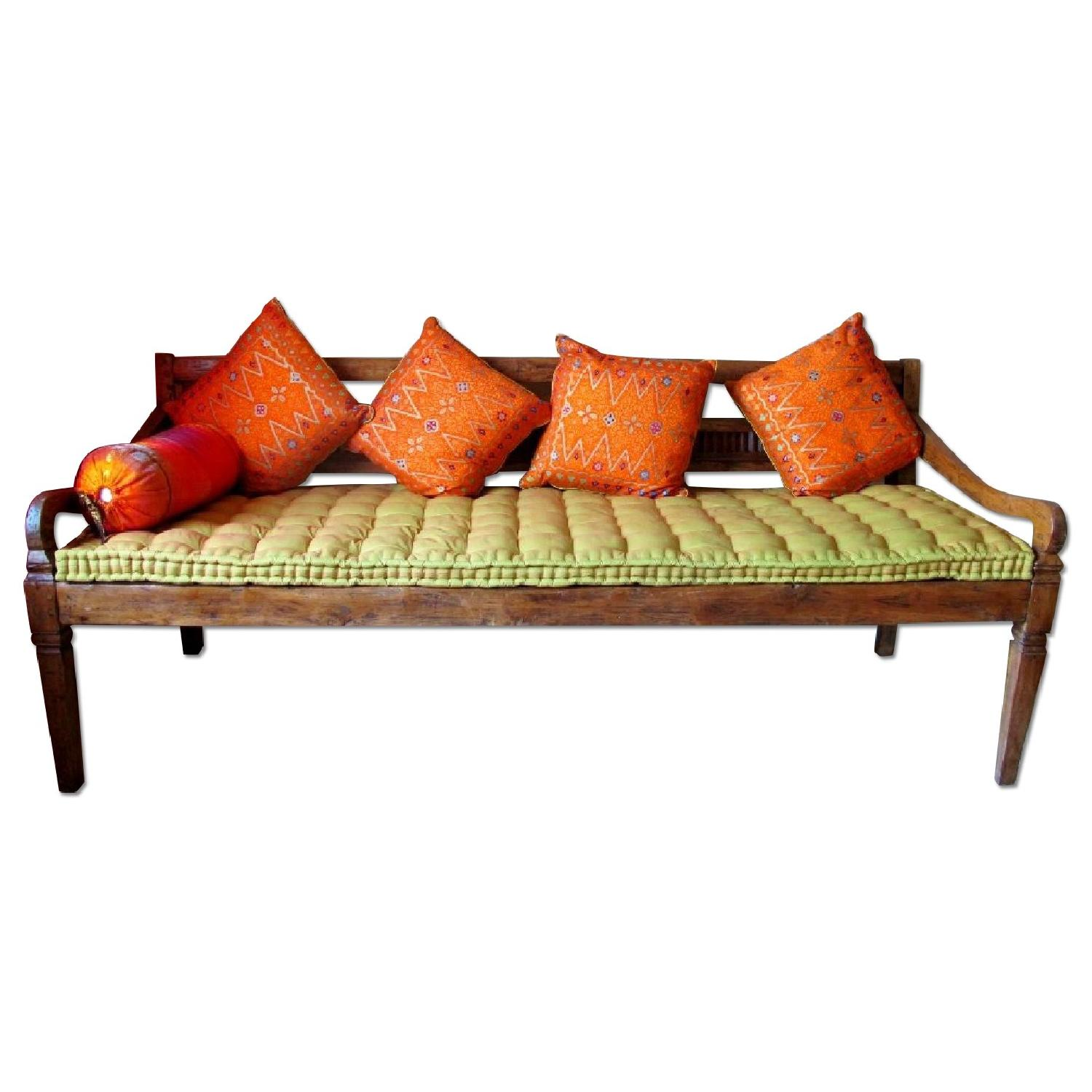 Antique Handmade Bali Dream Day Bed - image-0