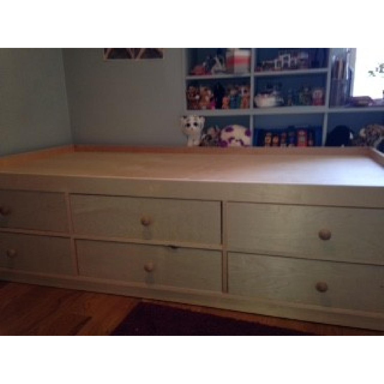 Twin Size Bed Frame w/ 6 Storage Drawers - image-3