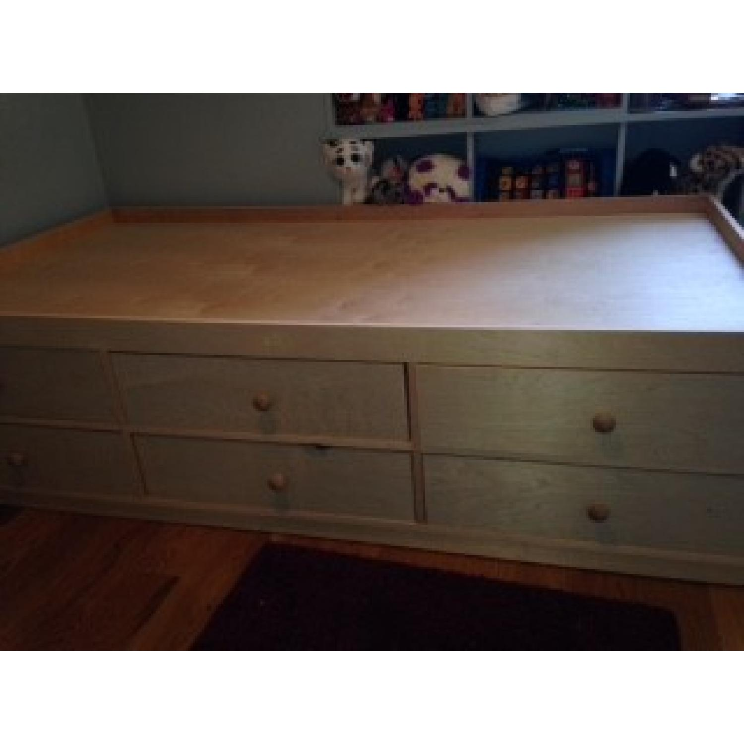 Twin Size Bed Frame w/ 6 Storage Drawers - image-4