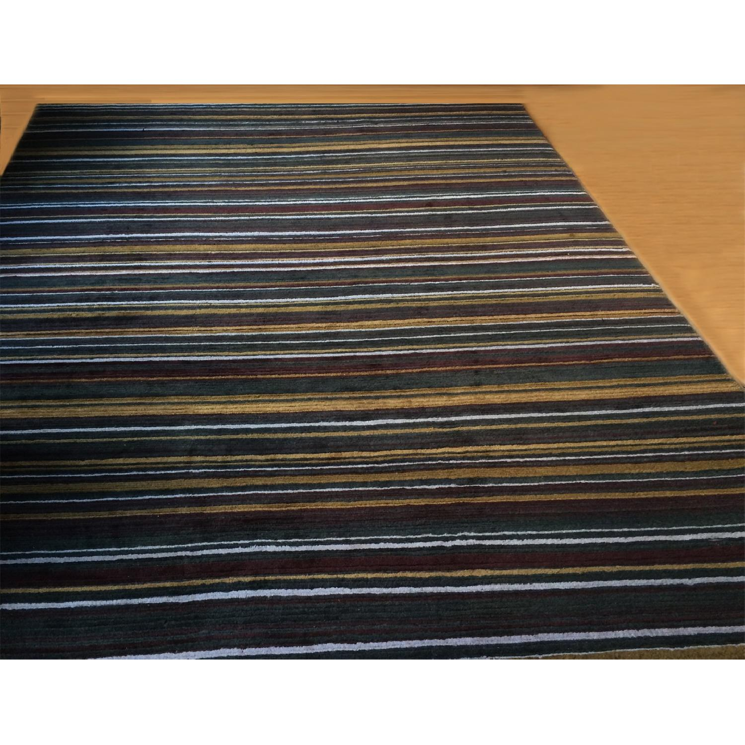 Crate & Barrel Hand Knotted Wool Rug - image-1
