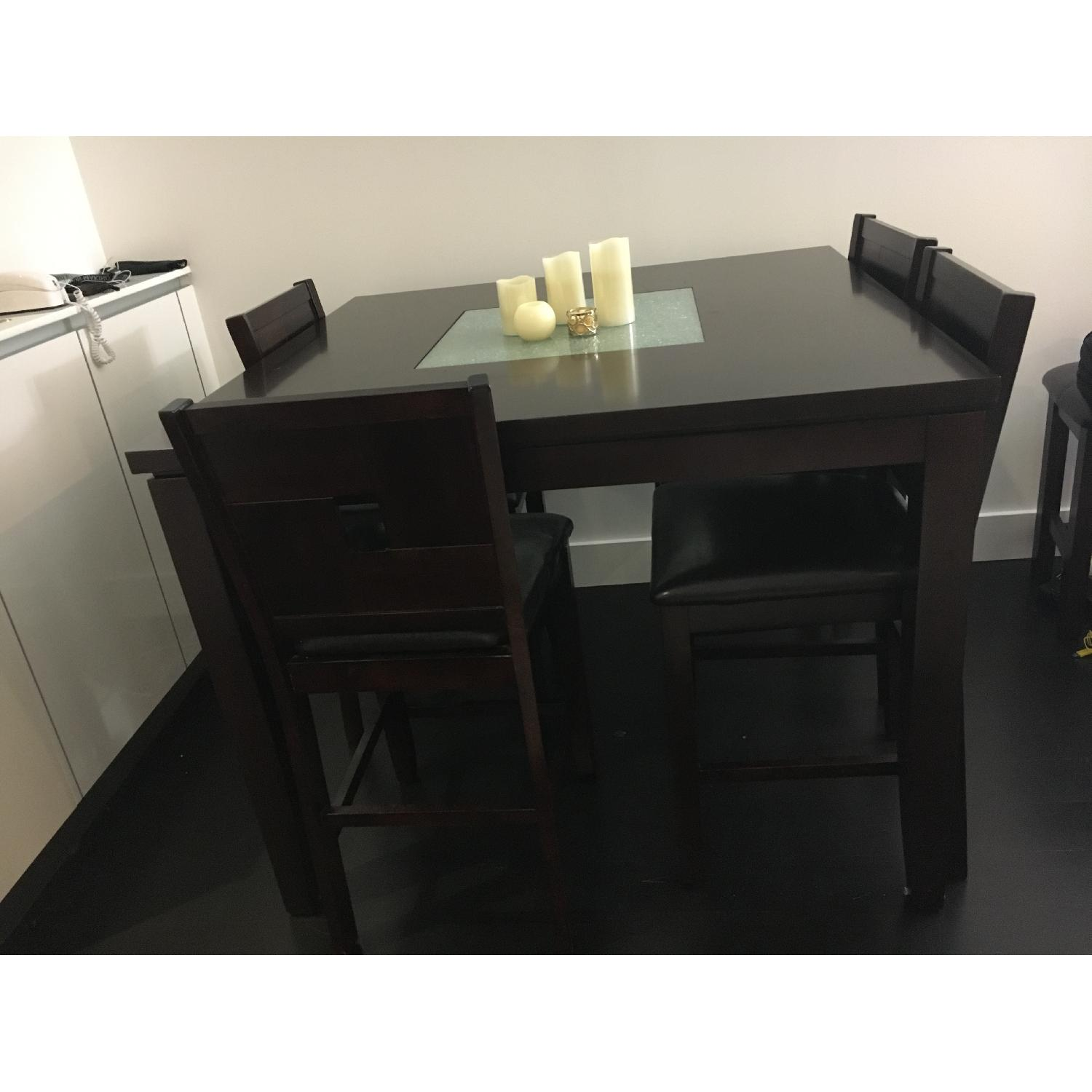 Dining Table w/ 4 Chairs + 1 Bench - image-2