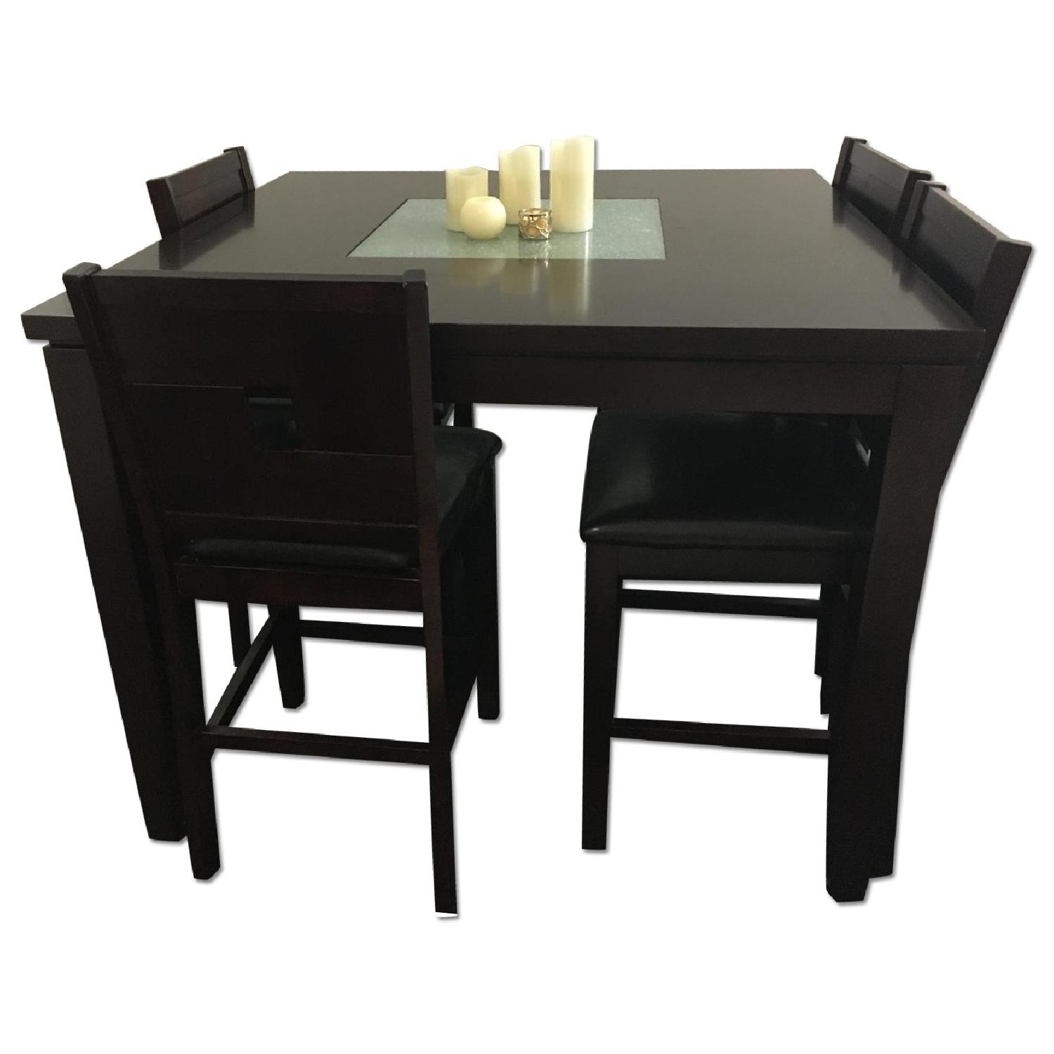 Dining Table w/ 4 Chairs + 1 Bench - image-0