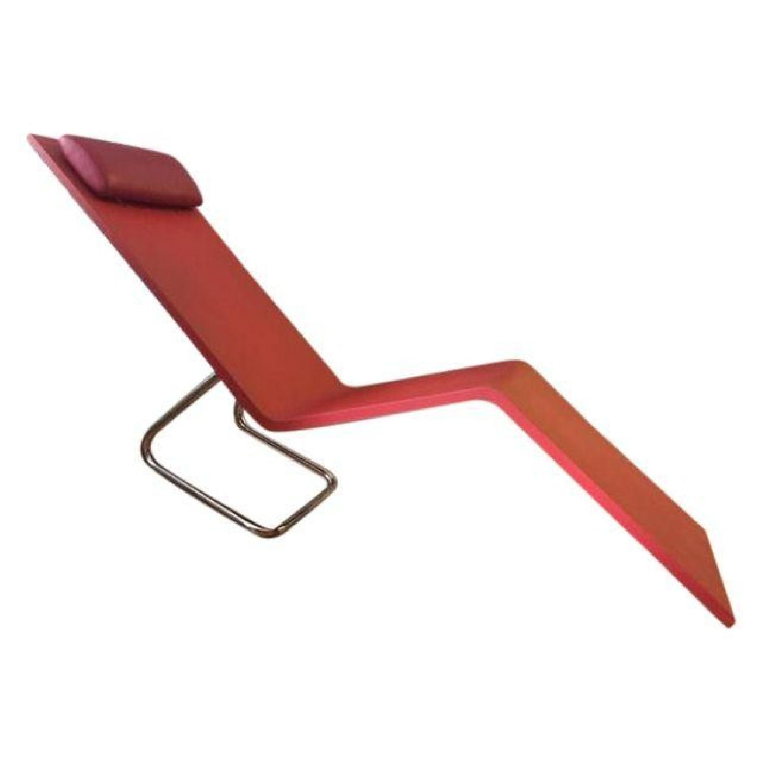 Maarten Van Severen Mvs Chaise in Red - image-1
