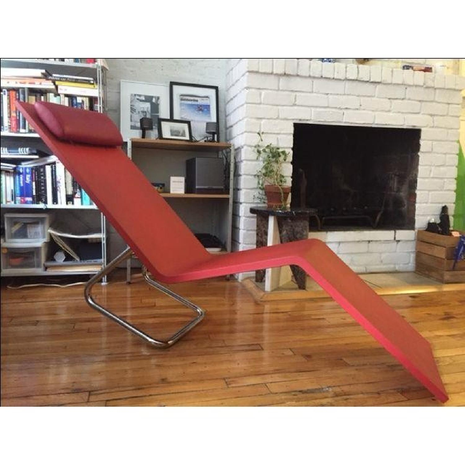 Maarten Van Severen Mvs Chaise in Red - image-4