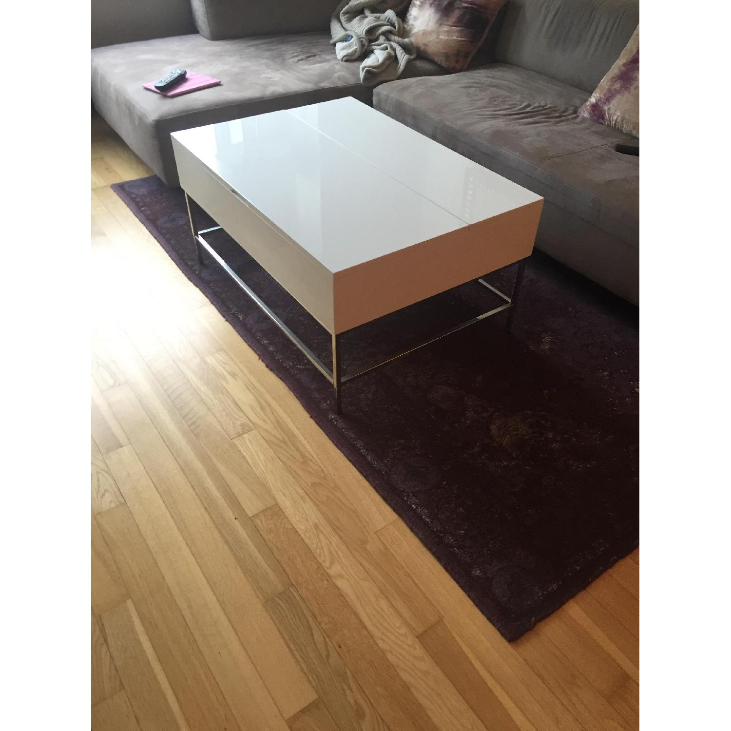West Elm Lacquer Storage Coffee Table - image-1