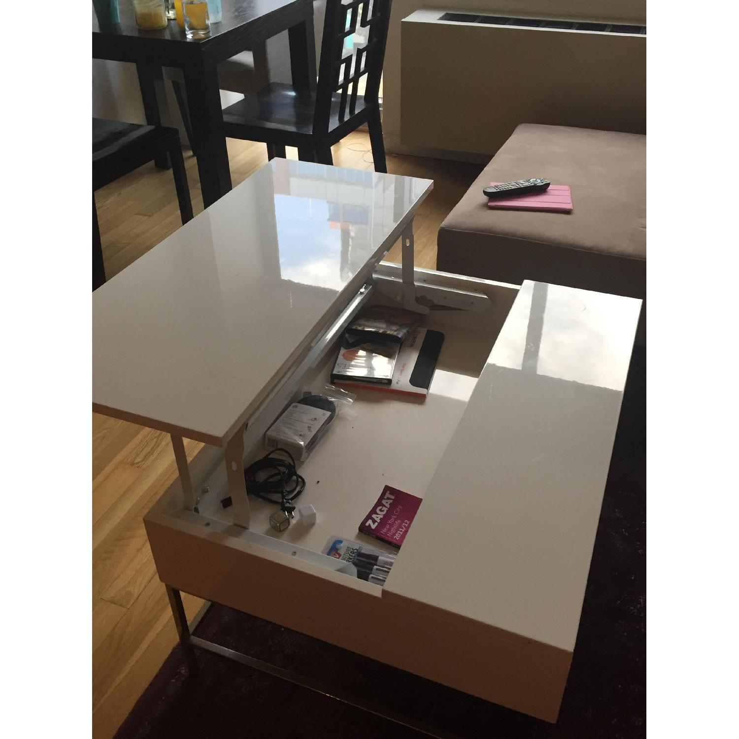 West Elm Lacquer Storage Coffee Table - image-3