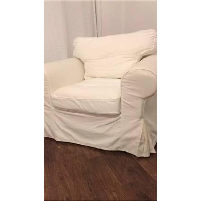 Ikea Ektorp White Armchair - image-1