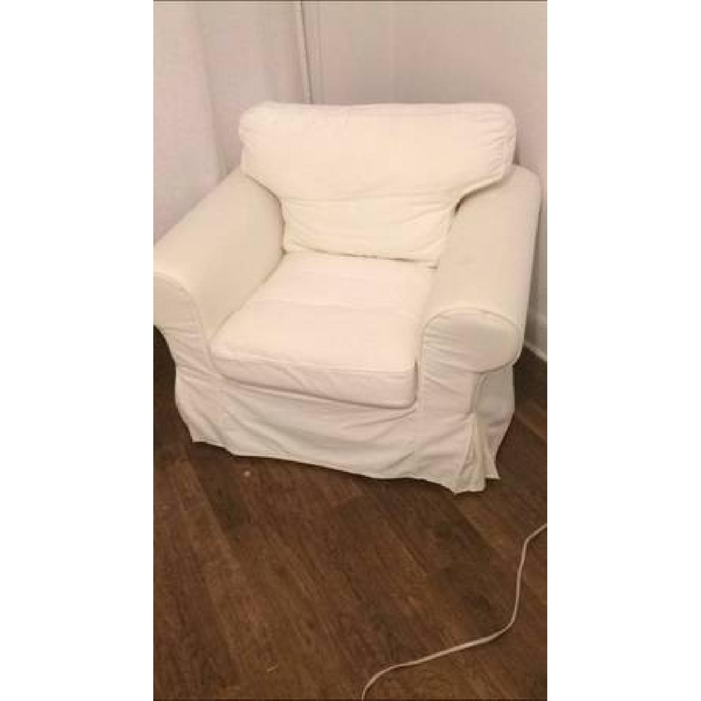 Ikea Ektorp White Armchair - image-3