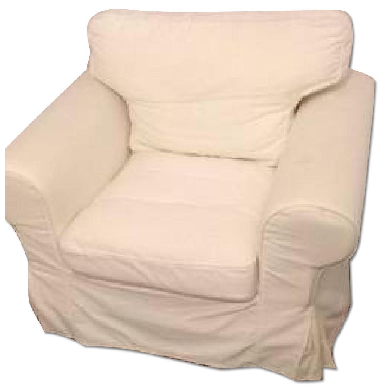 Ikea Ektorp White Armchair - image-0