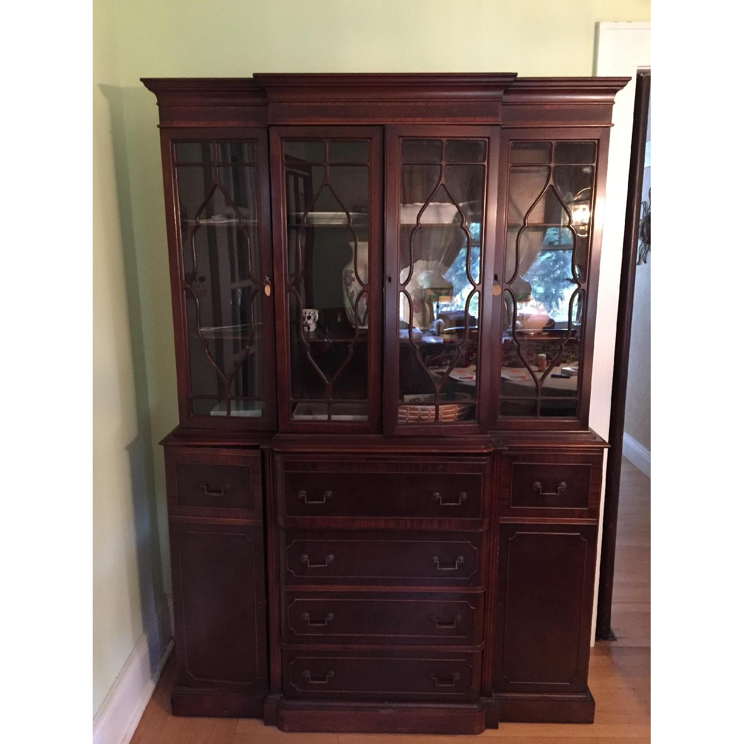 Maddox Colonial Reproduction Secretary/Breakfront - image-0
