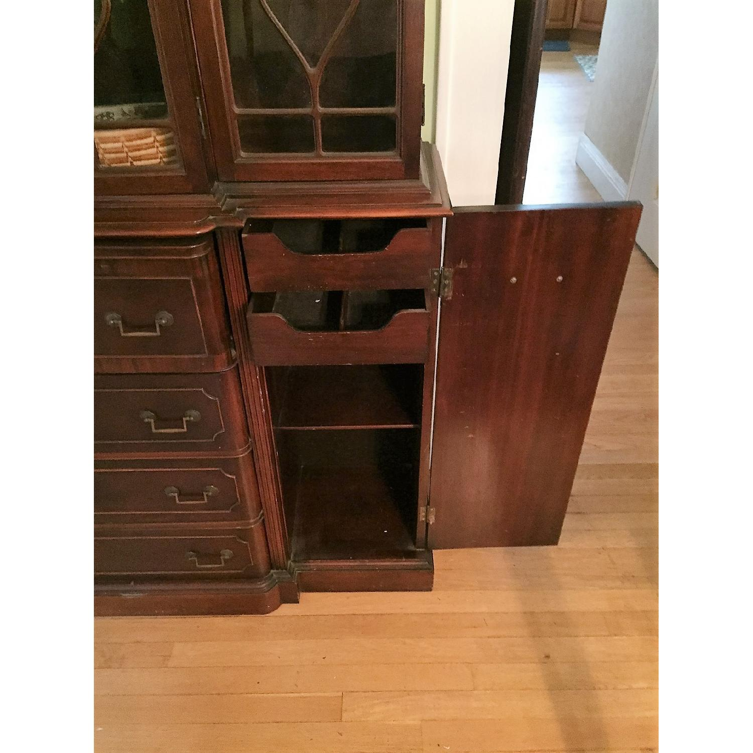 Maddox Colonial Reproduction Secretary/Breakfront - image-1