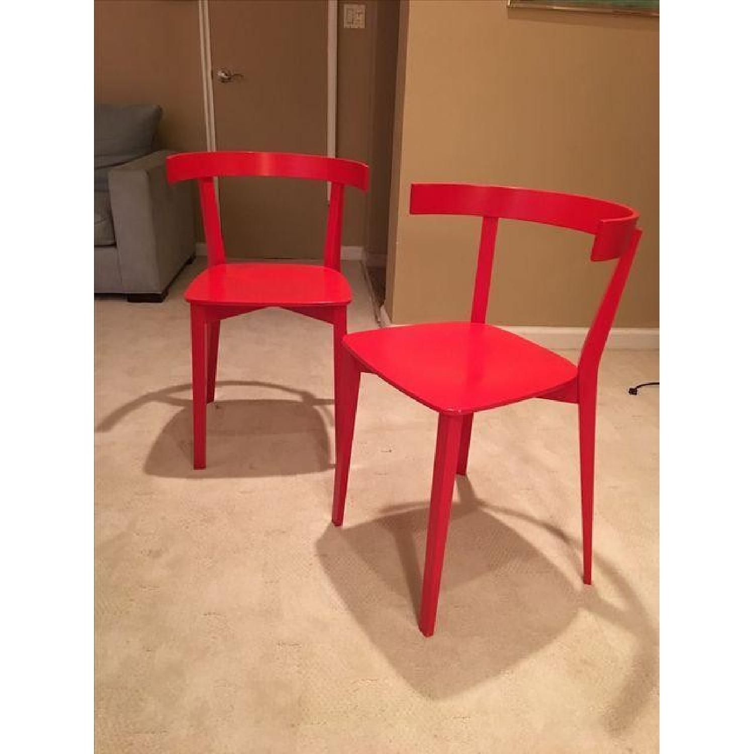 High Gloss Red Lacquer Chairs - image-1