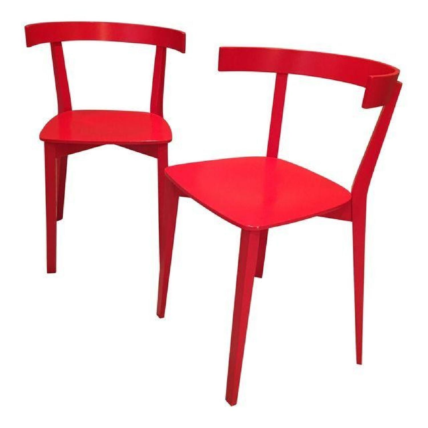 High Gloss Red Lacquer Chairs - image-0