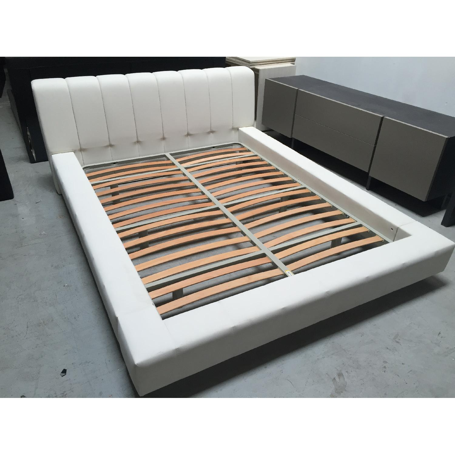 Lazzoni White Queen Size Bed Frame - image-2