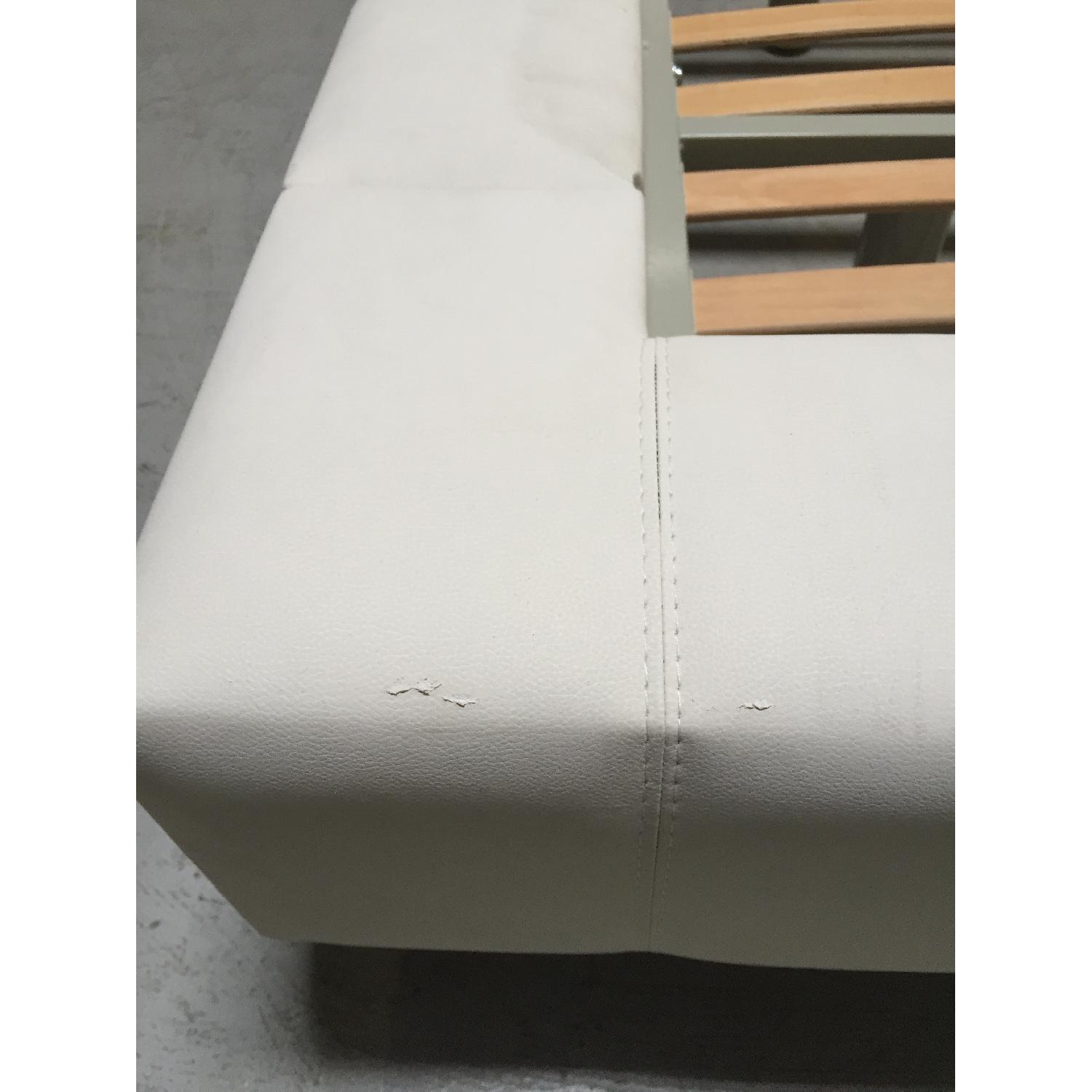 Lazzoni White Queen Size Bed Frame - image-8