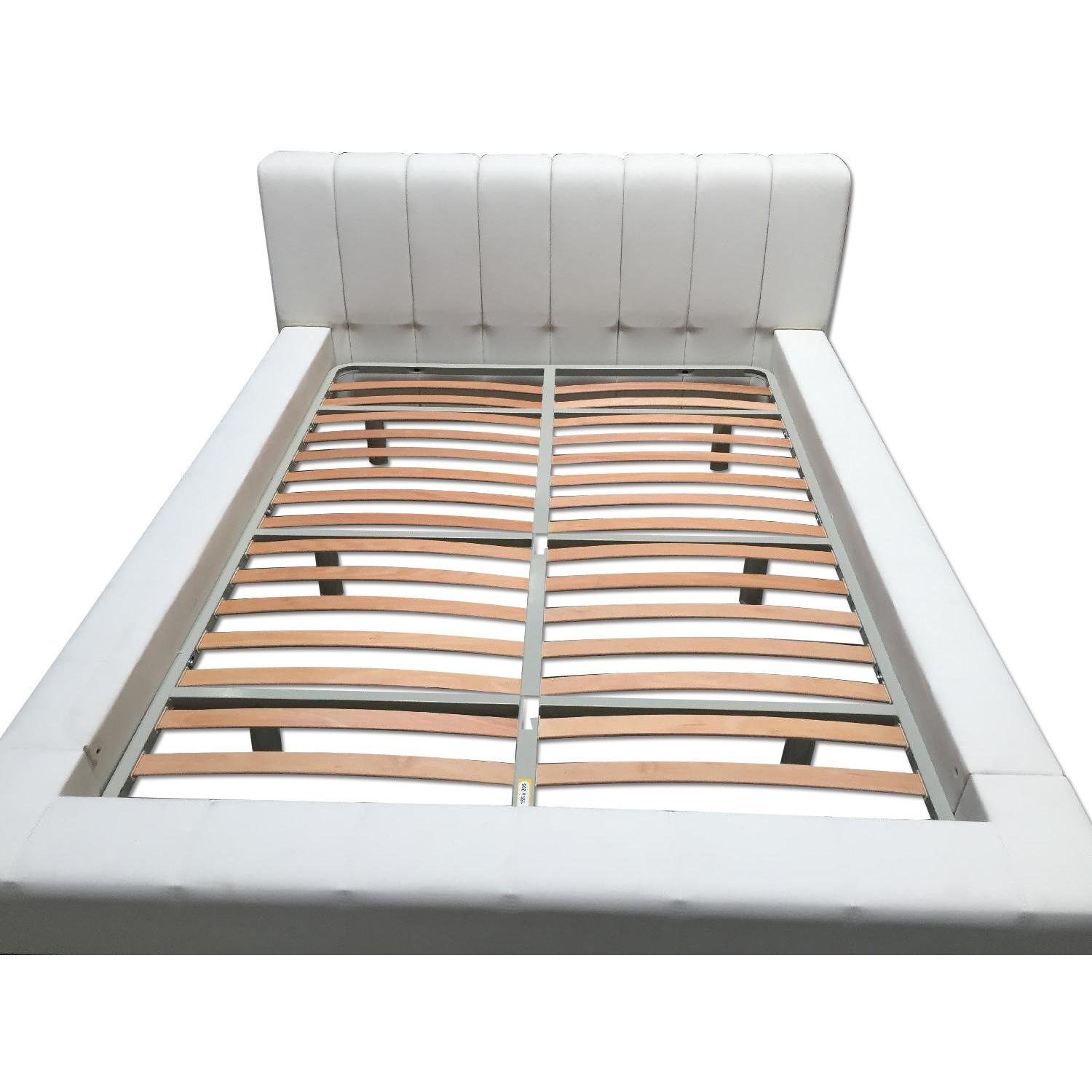Lazzoni White Queen Size Bed Frame - image-0